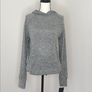Tahari Sport Hoodie Sweater with High/ Low Back, M
